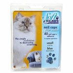 Soft Claws Kit de Protège-Griffes pour Chats Adultes Bleu – SMALL