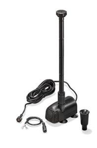 Solaire Pompe de rechange Waters Plash 20/1350l/h Pompe de bassin de jardin hauteur de refoulement 1,9m 12–24V DC Tension de fonctionnement étang, 101052