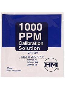 Solution de calibration HM Digital TDS 1000 ppm (20ml)