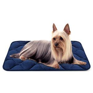 Tapis doux pour chien, Coussin de luxe et durable, Tapis antidérapant et lavable de chien Hero Dog (Bleu, Petite)