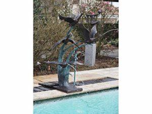 Thermobrass Fontaine en Bronze avec Oiseaux Décoration pour Bassin