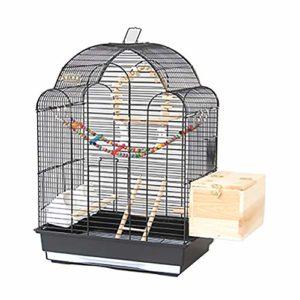 WRJ Grande Couverture Filet Maille Cage Oiseau Perroquet Cage, Nylon Souple avec Cordon de Serrage réglable modèle de Black Phoenix Villa Cage Myna Grande Cage d'élevage pivoines,3