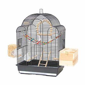 WRJ Grande Couverture Filet Maille Cage Oiseau Perroquet Cage, Nylon Souple avec Cordon de Serrage réglable modèle de Black Phoenix Villa Cage Myna Grande Cage d'élevage pivoines,4