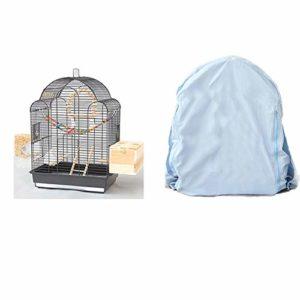 WRJ Grande Couverture Filet Maille Cage Oiseau Perroquet Cage, Nylon Souple avec Cordon de Serrage réglable modèle de Black Phoenix Villa Cage Myna Grande Cage d'élevage pivoines,5