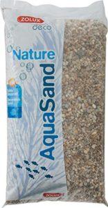 Zolux Gravier Naturel pour Aquarium Quartz Gros de 3 à 8 mm de Granulométrie 12 kg