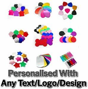 (Add Your Brand) Lot de 1000 étiquettes en métal gravées Personnalisables pour Animal de Compagnie, Bagage, Militaire