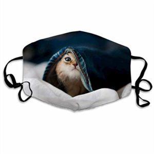 Adorable couverture pour animaux domestiques pour la bouche anti-buée pour le visage, couverture réglable pour l'oreille