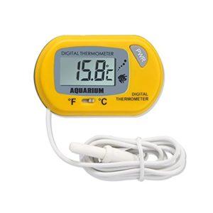 Alftek LCD numérique Aquarium Thermomètre avec sonde Ventouse Fish Tank Eau Terrarium Température