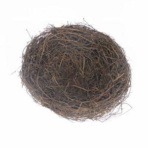 Amosfun Oiseau Nest Décoration Faite à la Main pour Pâques en rotin Décoration créative pour Jardin de Maison, Rotin, Bild 1, 20 cm