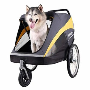 Aoligei Pet Roadster – Poussette pour Chien Or Bus Gros Chien sur Chariot