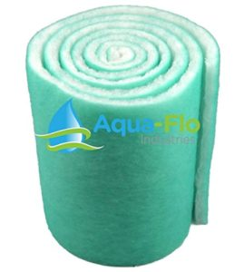 Aqua Flo Bassin et Aquarium Filtre Media, 30,5x 304,8cm (10Pieds) de Long x 2,5cm d'épaisseur (Vert/Blanc)