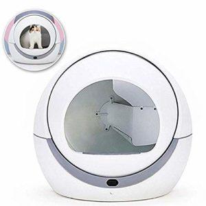 BABIFIS Toilette Automatique pour Chat Automatique pour Chat Bac à Sable à Induction Nettoyage Rotatif Chat Robot Litière Grand Kitty Boîte à litière Auto-nettoyante