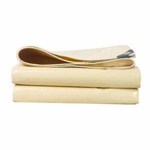 Bâche LINGZHIGAN Beige Couteau Grattage Toile Imperméable À La Pluie Crème Épaississement Étanche Tissu Auvent Tissu Ombre Tissu Crêpe Toile (Taille : 1.5 * 2m)