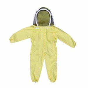 BESTT Apiculture Suit Professional Apiculture Suit Suit, Combinaison pour Enfant, protéger des visiteurs de la Ferme des Abeilles, Jaune (Medium)