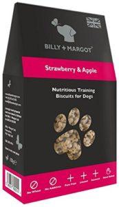 Billy + Margot – Friandise Chien Biscuits de Formation Apprentissage Dressage Mini Fraise et Pomme 100 g