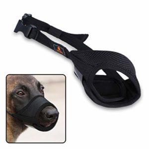 Bouche de chien en nylon respirant et durable Muselière pour chien avec boucle réglable et coussinet souple pour chien Empêche les aboiements