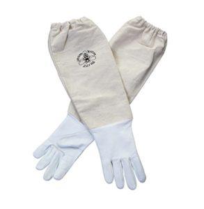 Buzz Gants de cuir de vêtements de travail Blanc doux artisanale Récoltée M blanc