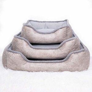 BYCWS Pet Deluxe Dog Bed, Chaise Longue antidérapante pour Animaux de Compagnie, Lit pour Animaux Auto-réchauffant et Respirant(3PCS)