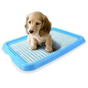 Candora sans odeur WC Chiot Puppy Loo Chien de Dressage de pot Toilettes, Puppy Trainer Starter Kit pour animal domestique WC Pot Puppy Tapis d'entraînement support Intérieur ou extérieur