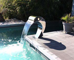 CASCADES-INOX Fontaine Piscine Bassin Modèle Dauphin Hauteur 75,5cm / Larg 40cm