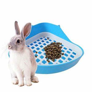 Cavis Toilette Lapin Bac à Litière, Petit Animal Coin Toilette Pot, Animal de Compagnie Litière Coin des Plateaux pour Lapin, Hamster (Bleu)