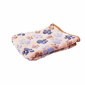 Daliuing Couverture pour Animaux de Compagnie Super Doux Prime Polaire épaissir Mignon Chat Chien Couverture lit Chaud Tapis de Sommeil Tapis Chien pour Chiot chien-20X20CM