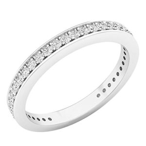 DazzlingRock Collection 14k Or Blanc Rond Blanc Zirkonia