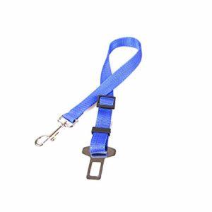 DDG EDMMS Dog Sangle de siège réglable pour Chien avec Fixation à Barres et Mousqueton sans enchevêtrement élastique Bleu foncé 70 x 2,5 cm