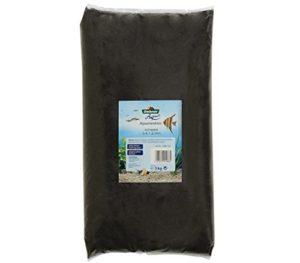 Dehner Aqua Sable d'aquarium Grain 0.4-1.2 mm, 5 kg, Noir