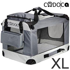Deuba CADOCA – Cage de Transport pour Animaux domestiques • Gris/Noir • Pliable • Taille XL – Sac de Transport Chien Chat Rongeur
