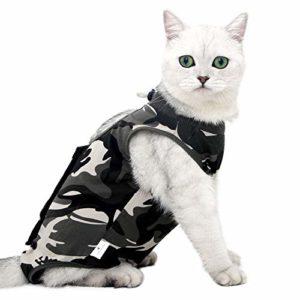 Doton Cat Professionnel Restauration Convient pour abdominaux Collerette des plaies ou des Maladies de la Peau, Alternative pour Chiens et Chats, après la Chirurgie Porter, Maison Vêtements (S)