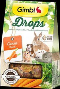 Drops avec carotte Snack pour Rongeurs sans céréales 50g