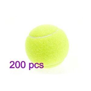 Dylandy Balle de tennis professionnel haute élasticité Training Sport Jeu de cricket Balle jouet pour chien Balles de tennis pour chiens enfants (Jaune), 200PCS, 200pcs