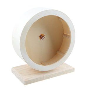 Emours Hamster Silent Spinner Confort Roue d'exercice en bois, cage pour petit animal jouet