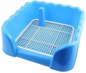 Entraîneur pot chiot, urinoir anti-éclaboussures, à l'intérieur des toilettes de clôture, pot de formation chien pot animal,Blue