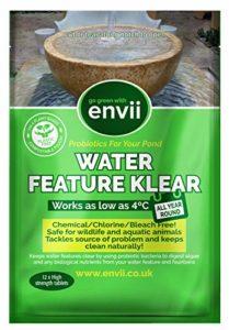 Envii Water Feature Klear – Traitement Anti-Algues Pour Fontaines et Cascades Décoratives, Nettoyeur et Éliminateur, Fonctionne à Une Température Basse Jusque 4°C – 12 Tablettes