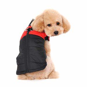 Ericoy Petit manteau imperméable pour chien Veste d'hiver rembourré matelassé Doudoune pour chien Pet chiot vêtements assortis tailles et couleurs