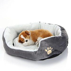 EUGU Coussins et Paniers Rond ou Ovale pour Chiens et Chats,Poids de l'animal de Compagnie dans Les 3.5 kg