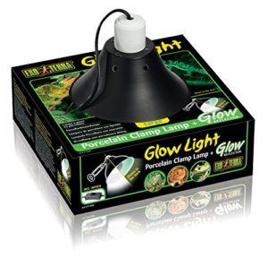 Exoterra Lampe à Pince avec Douille en Porcelaine/Réflecteur Lumineux pour Reptile 25 cm
