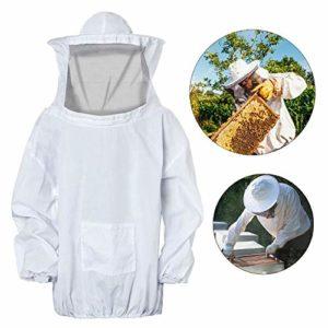 FEIGO Veste Apiculteur Professionnelle, Costume de Protection Veste d'Anti-Abeilles avec Chapeau et Voile pour Apiculteurs
