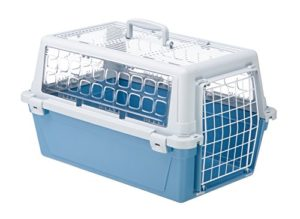 Ferplast Atlas 10 Trendy Open Panier de Transport pour Chat/Chien Bicolore Bleu/Gris