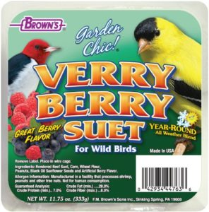 F.M. Brown 's, Garden chic Suet and Bread Cakes, 11 – 3/4-Ounce Verry Berry by F.m. Brown' s