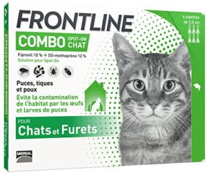 FRONTLINE Combo Chat – Anti-puces et anti-tiques pour chat – 6 pipettes