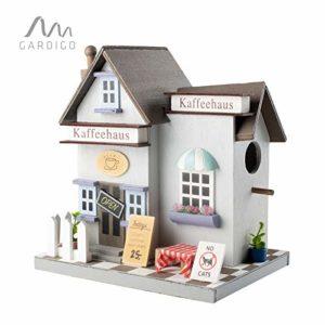 Gardigo – Nichoir à Oiseaux Café | Maison, Nid pour Oiseaux, Moineau, Mésanges en Bois à Suspendre, Extérieur | Décoration Jardin, Terrasse ou Balcon