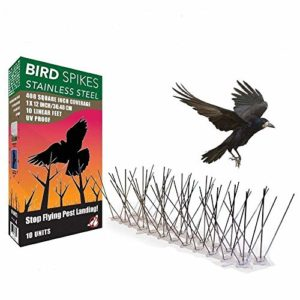 GHDBHFD 2,5M en Acier Inoxydable Oiseaux Spikes Kit Oiseaux Pigeon Dissuasion Spikes Anti Oiseaux Anti Pigeon de Spike Se débarrasser des Oiseaux Pigeons et Scare