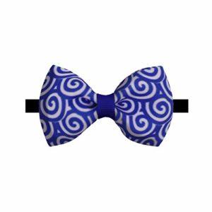 Hosaire® 1pc Noeud Papillon Élégant Bleu Motif en Spirale pour Animaux De Compagnie Cravate Délicate pour Chat/Chiot/Renard/Raton Laveur Animaux De Compagnie Noeud Papillon(S)