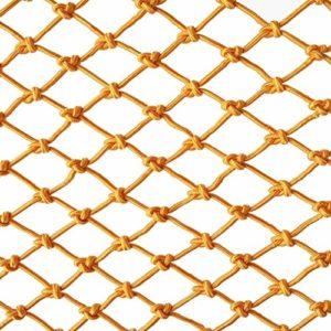 Jaune Enfant filet de protection filet de protection escalier balcon anti-chute filet de réseau de clôture décoratif net de couleur maternelle Largeur 1 / 4M Longueur 1M / 9M Structure traditionnelle