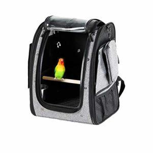Jklt Sac à oiseaux pour animaux domestiques Sac à oiseaux Sac à oiseaux Sac Myna Grande ceinture Perchoir Respirant Sûr et confortable