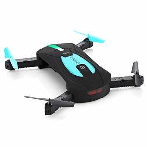 Jose9a WiFi Quadcopter Mini Pliable Selfie Drone RC Drones avec 2MP Caméra HD Professionnel 720p RC Hélicoptère