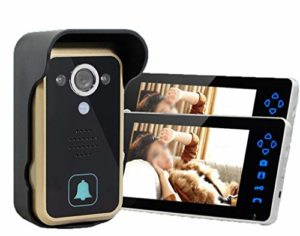 JPJING 1 Drag 2 sans Fil Visuel Interphone Sonnette 7 Pouces Villa Ménage Doorbell